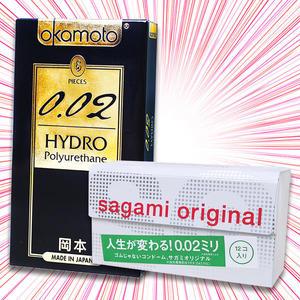 【愛愛雲端】相模元祖 Sagami 002 超激薄保險套 12入 +岡本Okamoto 002 水感勁薄 保險套6入