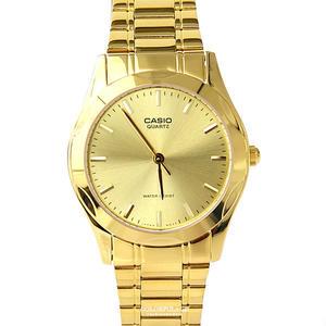 CASIO卡西歐全金色指針腕錶 金光閃耀手錶 柒彩年代【NEC109】