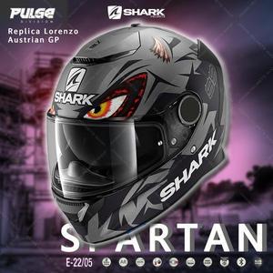 [中壢安信]SHARK SPARTAN Replica Lorenzo Austrian 全罩安全帽HE3460 AKA