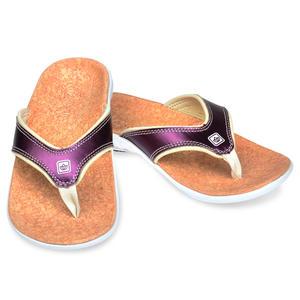 《Spenco》METALLIC 女 真皮涼拖鞋 紫色 SF39-842