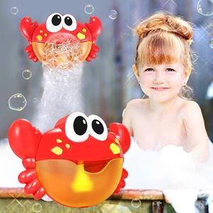 玩具 螃蟹吐泡泡機吹嬰幼兒浴缸兒童沐浴寶寶浴室洗澡玩具戲水