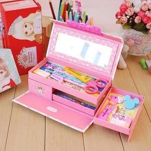 春季上新 文具密碼小學生女孩鉛筆盒兒童帶鎖公主多功能女童幼兒園多層可愛