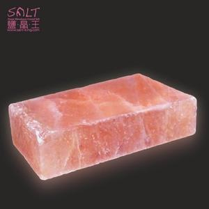 鹽燈專家【鹽晶王】喜馬拉雅山100%純天然結晶玫瑰岩(鹽板/鹽烤板/鹽磚)長方形一入。