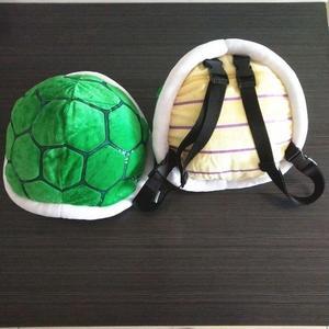 公仔包  超級瑪麗奧烏龜殼毛絨背包玩具兒童雙肩包小背包男女孩書包   伊蘿鞋包