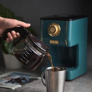 咖啡機 Toffy復古美式咖啡機家用型電動滴漏式咖啡壺煮咖啡泡咖啡 墨綠色 優拓
