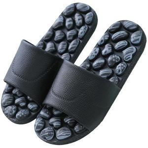 按摩拖鞋腳底按摩鞋夏季男女家居防滑涼拖鞋仿鵝卵石按摩拖鞋CY 酷男精品館