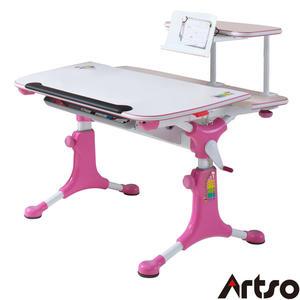 【Artso亞梭】魔豆學習桌-兒童書桌/成長書桌/機械式手搖調整桌高預防兒童近視駝背