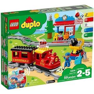 樂高積木 LEGO 2018《 10874 》DUPLO Town 得寶系列 - 蒸汽列車╭★ JOYBUS玩具百貨