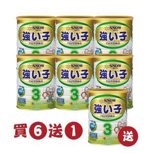 【愛吾兒】雪印 金強い子3成長營養配方900g 買6送1