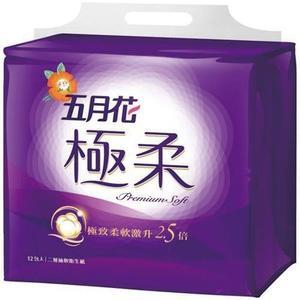 五月花極柔抽取式衛生紙110抽*12包【愛買】