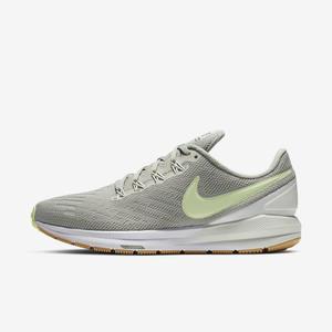 Nike AIR ZOOM STRUCTURE 22 [AA1640-300] 女鞋 運動 休閒 慢跑 透氣 緩震 灰黃