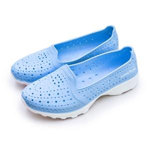 LIKA夢 GOODYEAR 固特異 排水透氣輕量美型水陸多功能休閒洞洞鞋 粉藍 82826 女