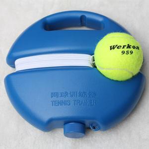 網球 訓練網球  練習球訓練器 帶線網球底座單人回彈帶繩網球皮筋球 城市玩家