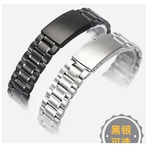 通用不銹鋼錶帶男 適用卡西歐 西鐵城ck天梭精鋼手錶鍊女18 20mm 藍嵐