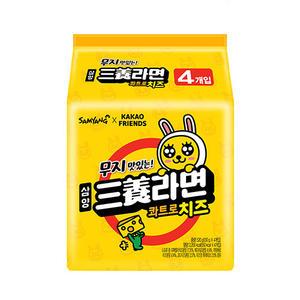 韓國 SamYang 三養 x kakao friends 元祖起司風味拉麵 120g x 4【美日多多】