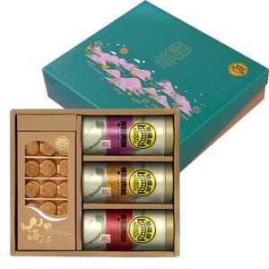 【黑橋牌】吉臻品禮盒C(北海道干貝、大肉酥罐、大肉絨罐、大海苔肉酥罐)