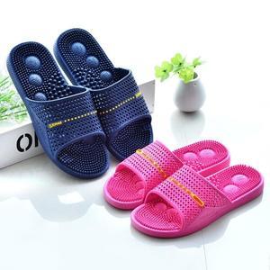 按摩鞋 腳底按摩拖鞋男浴室拖鞋女夏室內防滑軟底塑膠居家穴位足療鞋【星時代女王】