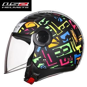 LS2頭盔男女摩托車半盔大碼特大號4XL大頭電動機車安全帽四季冬季