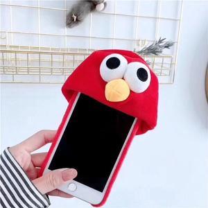 【SZ25】i phone 手機殼 立體搞怪毛絨帽子 iphone x 手機殼 iphone6s iphone 7 plus 殼