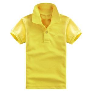 男女中大童翻領T恤 學生校服團體有領子純白色POLO衫半袖 千千女鞋