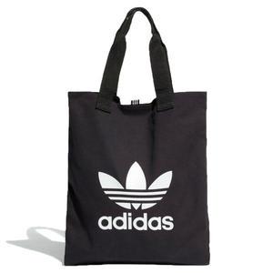 【折後$800】◆adidas Trefoil Shopper bag 側背包 購物袋 休閒 棉質帆布 黑 DW5215