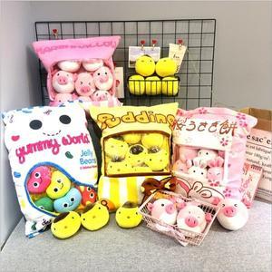 日本人氣櫻花兔 角落生物 布丁小雞一大袋玩偶抱枕 生日禮物 聖誕交換禮物 情人節禮物(現+預)