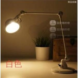 美術燈    Loft 美式複古工業風臥室床頭創意長機械手臂工作檯燈   -不含光源
