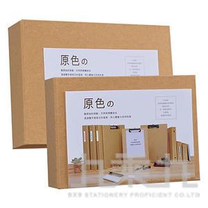 A6 2孔D型資料卡夾-原色 NP-61602