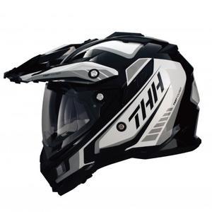 THH TX27 TX27A 全罩 安全帽 越野帽 遮陽鏡片 雙層鏡片 《鋼鐵英雄》黑/白 黑白(好禮3選1)