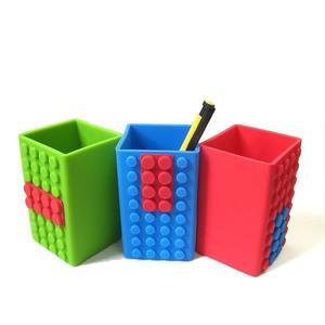 【發現。好貨】可愛創意積木文具系列 LEGO樂高積木筆筒矽膠多彩DIY收納筆筒