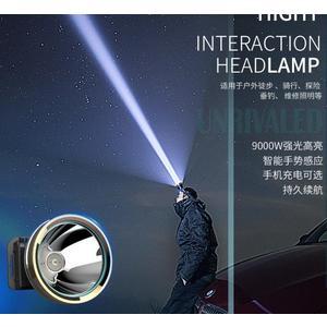 頭燈 LED頭燈強光遠射釣魚燈充電感應手電筒打獵超亮礦燈頭戴式3000米