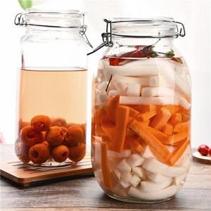 喜碧密封罐玻璃罐大號泡酒瓶透明玻璃泡菜罐藥酒罐儲物罐雜糧  ATF  極有家