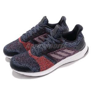 68d95e45d6103 adidas 慢跑鞋Ultra BOOST ST M 黑紅運動鞋透氣網布舒適緩