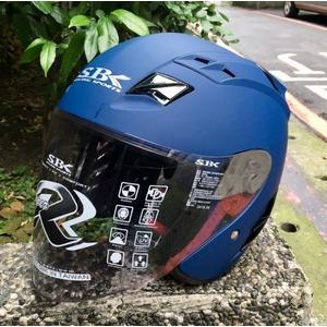 SBK安全帽,SUPER-RR,ABS版,素/消光藍