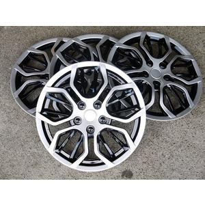 通用型 仿BMW 銀黑款 15吋 四入 改裝亮面款 仿鋁圈樣式 通用型 汽車專用 輪圈蓋 鐵圈蓋 無LOGO