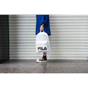 ISNEAKERS FILA 白 皮革 LOGO 後背包 FS3BPA5201X-OWH
