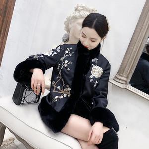 冬季漢服冬裝女秋冬旗袍外套中式女裝中國風棉衣加厚改良唐裝棉襖 伊衫風尚