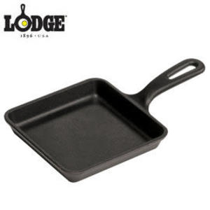 丹大戶外【LODGE】Wonder Skillet 5吋荷蘭鑄鐵方型平底牛排煎鍋/會釋放鐵離子使食材更好吃  L5WS3