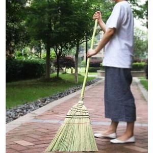 藝之初 日式庭院掃把 長柄高粱大掃帚 戶外竹掃把 掃落葉掃雨雪WD  初語生活館