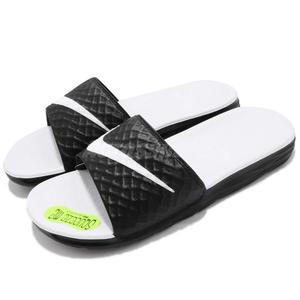 Nike 拖鞋 Wmns Benassi Solarsoft 白 黑 輕量 舒適中底 基本款 涼拖鞋 男 女【PUMP306】 705475-010