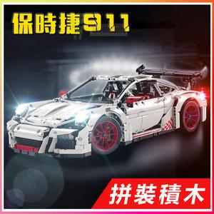 【超級跑車】科技旗艦 保時捷 911 樂拼 20001A 得高3368A 與樂高兼容  積木 模型