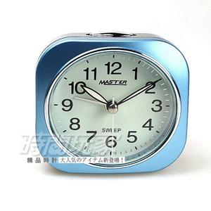 MASTER 台灣製造 精美鬧鐘 連續秒針/靜音秒針 大聲BiBi+燈光 JM-E433藍
