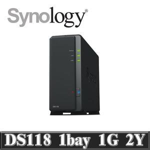 Synology 群暉科技 DiskStation DS118 NAS 網路儲存伺服器(不含HDD/SSD)