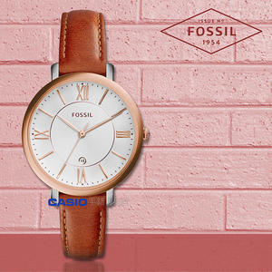 FOSSIL 手錶 專賣店 ES3842 女錶 石英錶 真皮錶帶  防水 全新品 保固一年