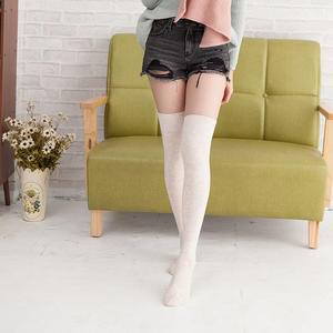 性感高級羊絨長統膝上襪(米白色)