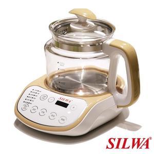 【西華SILWA】智慧控溫語音玻璃快熱烹煮壺2L 電茶壺 / 快煮壺 【刷卡分期+免運費】
