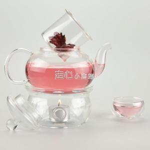 溫茶器暖茶器蠟燭溫茶爐花茶壺保溫底座心形玻璃茶具蠟燭加熱茶座茶杯暖茶器 走心小賣場