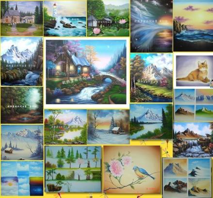 歡樂畫廊休閒油畫