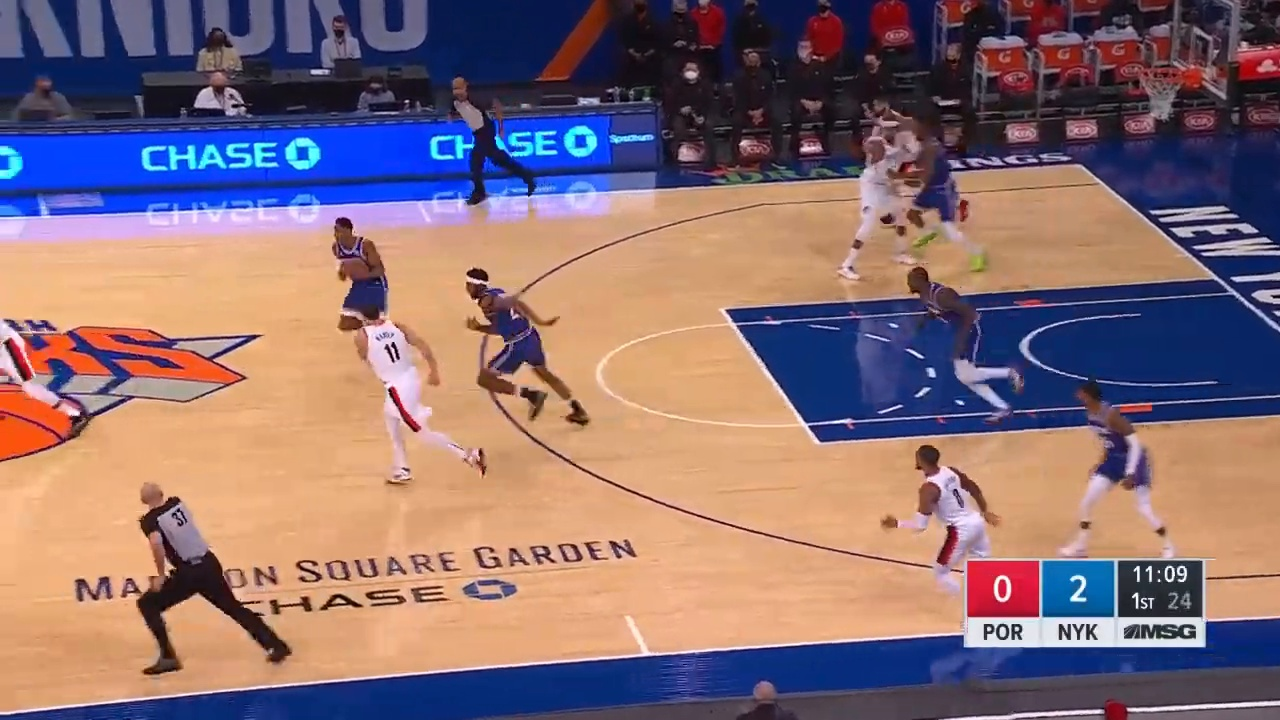 TRAIL BLAZERS at KNICKS   FULL GAME HIGHLIGHTS   February 6, 2021