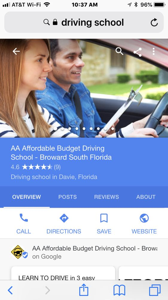 Driving Schools Yahoo Local Search Results